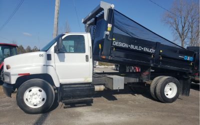 2006 GMC C7500 DIESEL single axle dump truck